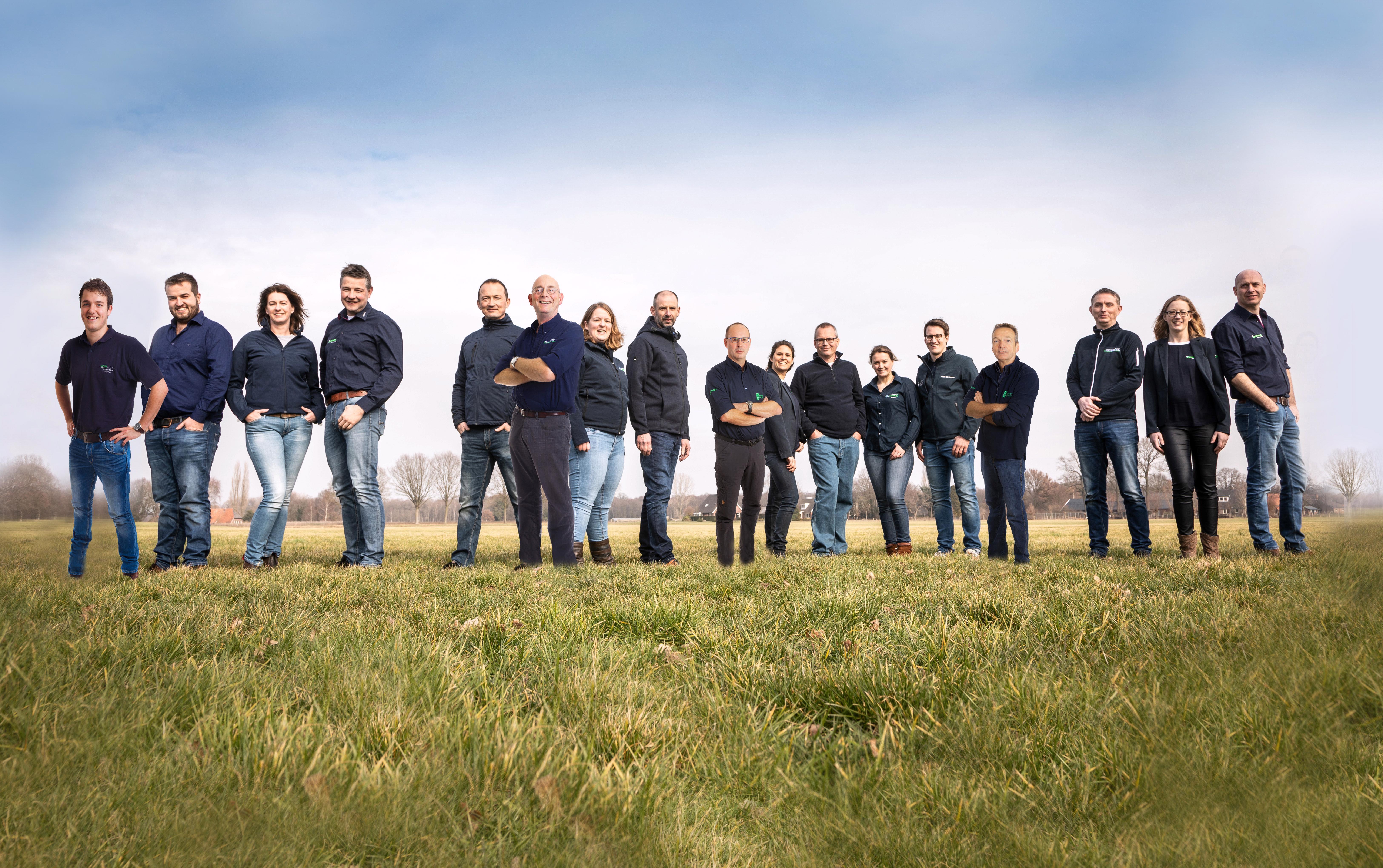Groepsfoto Varkens Team